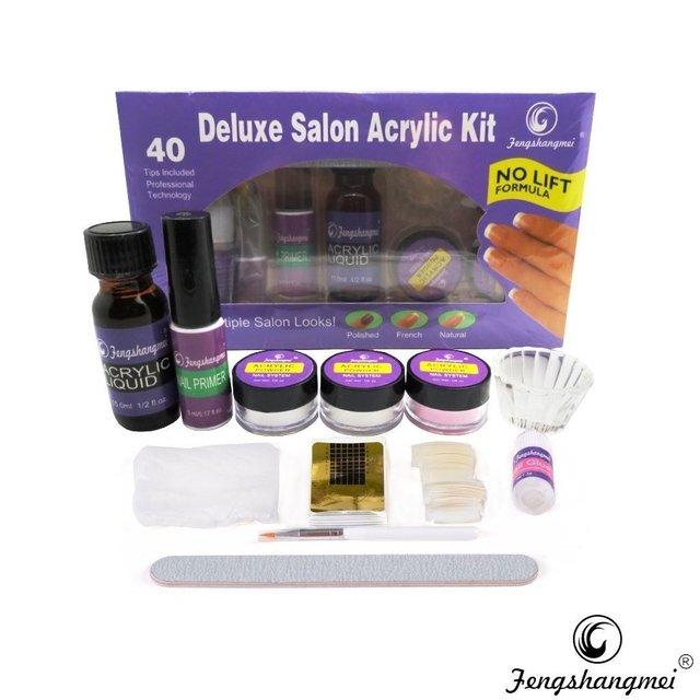 Kit Uñas Acrilicas Marca Fengshangmei Deluxe Salon Acrylic Kit