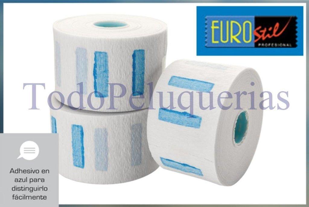 5 Rollos Papel Protector Cuello marca EUROSTIL por 500 servicios * Peluqueria Tintura Permanente Bar