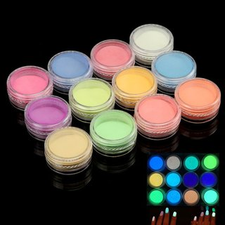 POLVO FLUORESCENTE * 12 COLORES SURTIDOS * MANICURIA UÑAS DECORACION