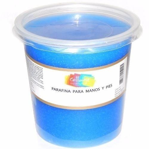 Parafina AZUL Marca COLLAGE para manos  codos y pies Pote por 650 grs.