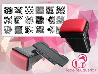 Sello Rectangular NAIL ART Para Placa Stamping Decoracion De Uñas
