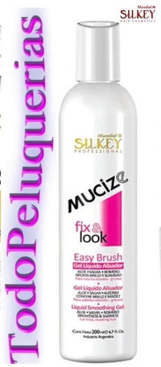 MUCIZE Linea Fix & Look Marca SILKEY Gel EASY BRUSH Liquido Alisador por 200 ml. en internet
