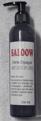 CREMA ENJUAGUE MATIZADOR GRIS MARCA SALOON IN por 250 ml