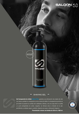 GEL PARA BARBA / BARBEAR / AFEITAR TRANSPARENTE MARCA SALOON IN POR 250 ml.