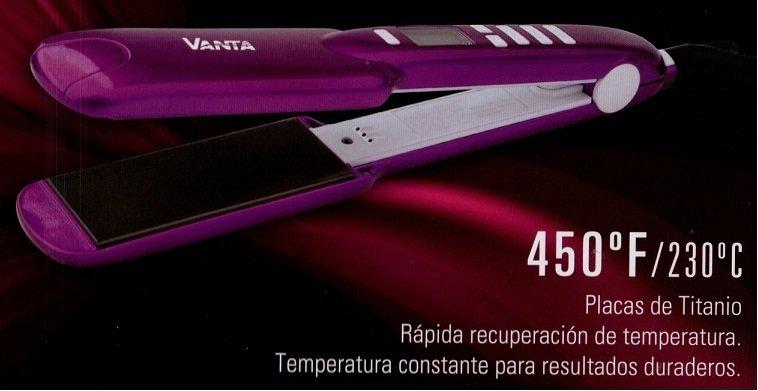 PLANCHA / Planchita marca VANTA  TITANIUM Temperatura 230°c Ideal Para Alisados