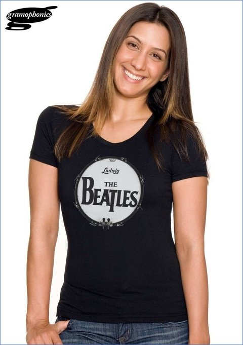 THE BEATLES DRUM - Gramophonics - A camiseta criativa