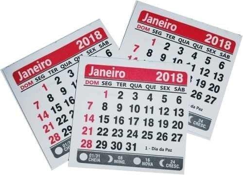 Mini Calendario.100 Mini Calendarios