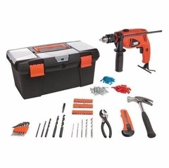 Taladro Black & Decker HD500BX 10MM 550W con 103 accesorios