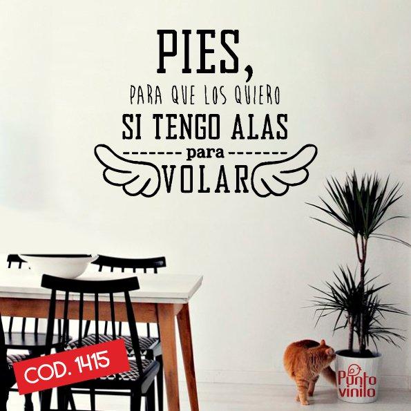 Frase Pies Volar Cod 1415