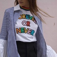 REMERA BLANCA 'FOREVER OR NEVER'