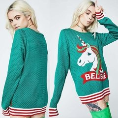 SWEATER CON UNICORNIO 'BELIEVE'