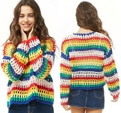 SWEATER RAINBOW CROCHET
