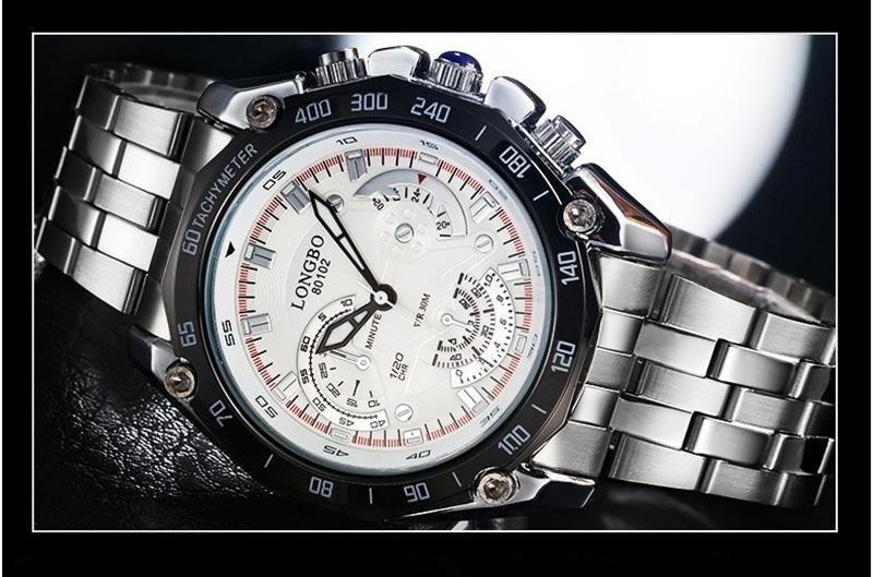 521e2760b8f Relógio Masculino Importado Original Pulseira De Aço De Luxo
