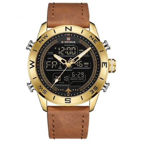 42ea1ac29ce Relógio Masculino De Pulseira De Couro Genuíno