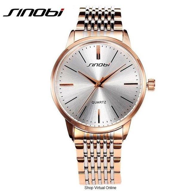 3de5074e62a Relógio Unissex Importado De Pulseira De Aço