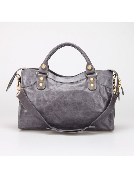 Bolsa Balenciaga Classic City Lake Grey/Gold na internet