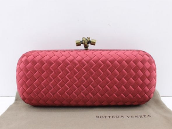 Bolsa Bottega Veneta Clutch Red 02
