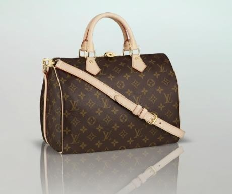 Bolsa Louis Vuitton Speedy Bandouliére Canvas Monogram Couro 35