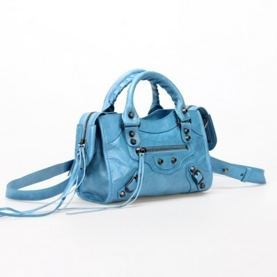 Bolsa Balenciaga Classic Mini City Blue na internet