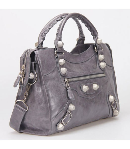 Bolsa Balenciaga Classic City Lake Grey/Silver na internet