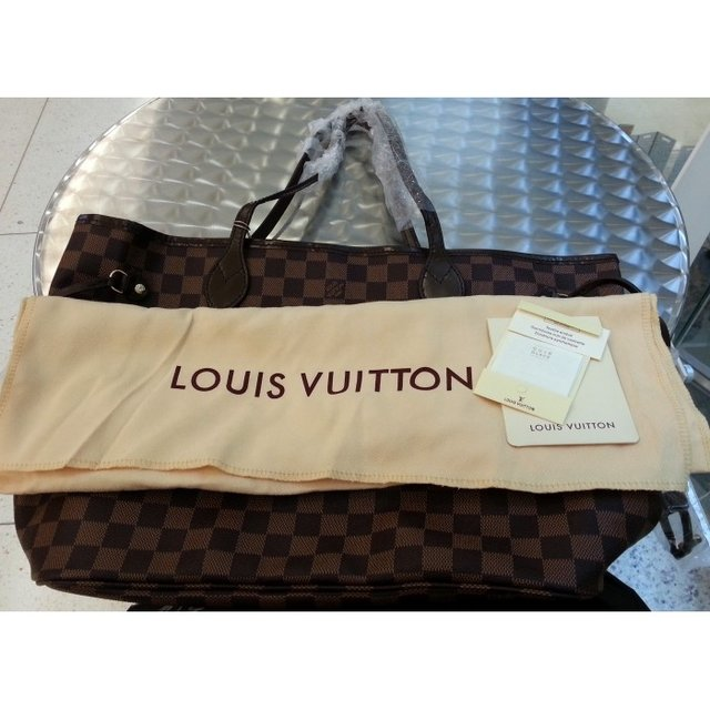 Bolsa Louis Vuitton Neverfull Damier Ebene GM na internet