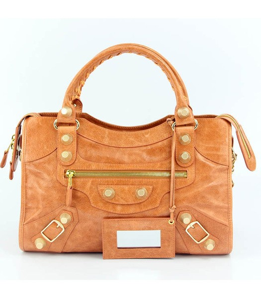 Bolsa Balenciaga Classic City Orange/Gold - comprar online
