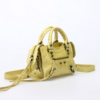 Bolsa Balenciaga Classic Mini City Yellow na internet
