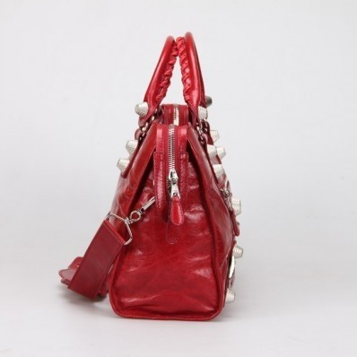 Bolsa Balenciaga Classic City Lake Red/Silver na internet