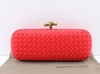 Bolsa Bottega Veneta Clutch Rose Red