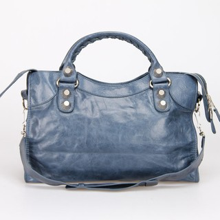 Imagem do Bolsa Balenciaga Classic City Dark Blue/Silver