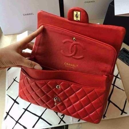 bef3854c6 Réplica de Bolsa Chanel 2.55 Classic Flap Vermelha