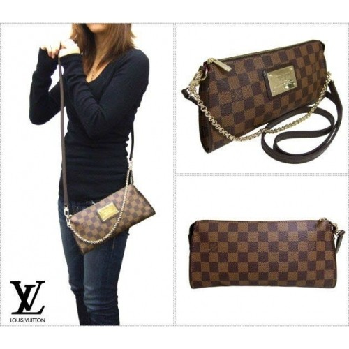 Bolsa Louis Vuitton Eva Clutch Damier Ebene na internet