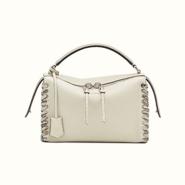 Bolsa de Grife Fendi Lei Selleria White