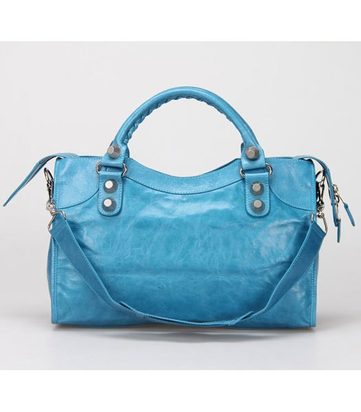 Imagem do Bolsa Balenciaga Classic City Lake Blue/Silver