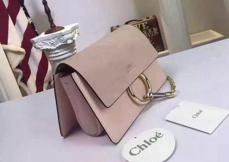 Bolsa Chloé Faye Small Premium Pink Light na internet
