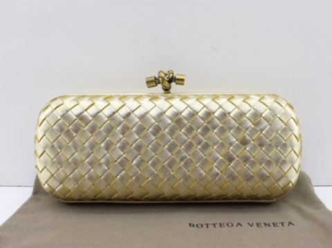 Bolsa Bottega Veneta Clutch New Gold