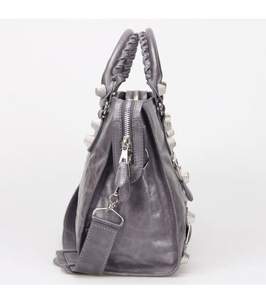 Bolsa Balenciaga Classic City Lake Grey/Silver