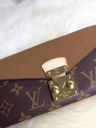 Carteira Louis Vuitton Pallas Monogram Marrom na internet