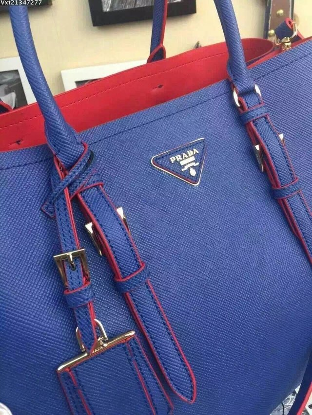 Bolsa Importada PRADA Double Bag Blue - Linha TOP PREMIUM na internet