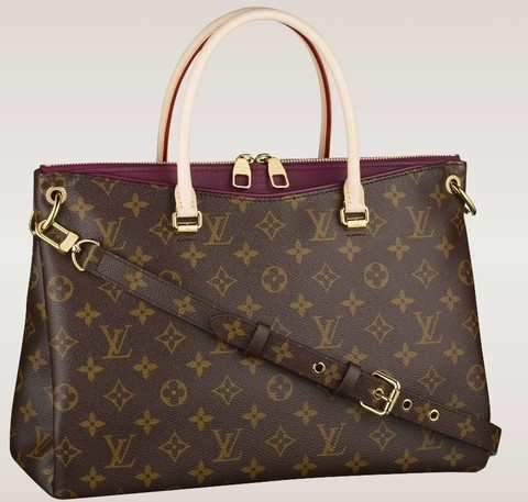 Bolsa Louis Vuitton Monogram Canvas Pallas Vinho - comprar online