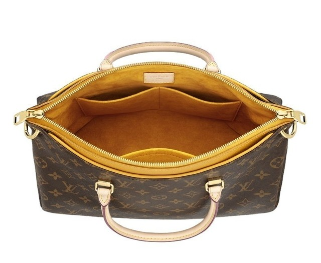 Bolsa Louis Vuitton Monogram Canvas Pallas Mostarda na internet
