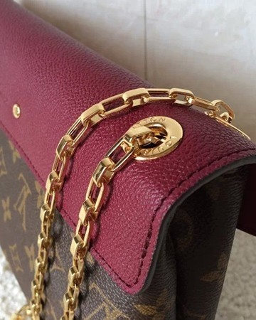 Bolsa Louis Vuitton Pallas Chain Aurore - Vinho