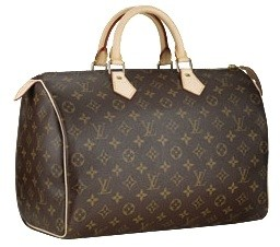 Bolsa Louis Vuitton Speedy Canvas Monogram Couro 30