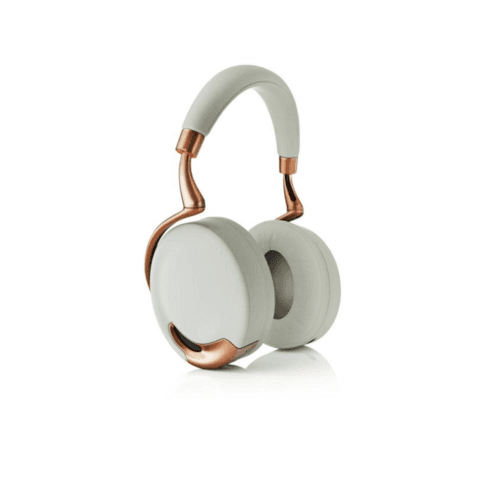 Headphones brancos y bronze