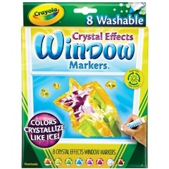 Crayola Crystal Effects Washable Window Markers