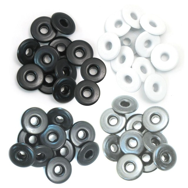 We R Memory keepers Eyelets Eyelets Wide 40/Pkg Aluminium Gray