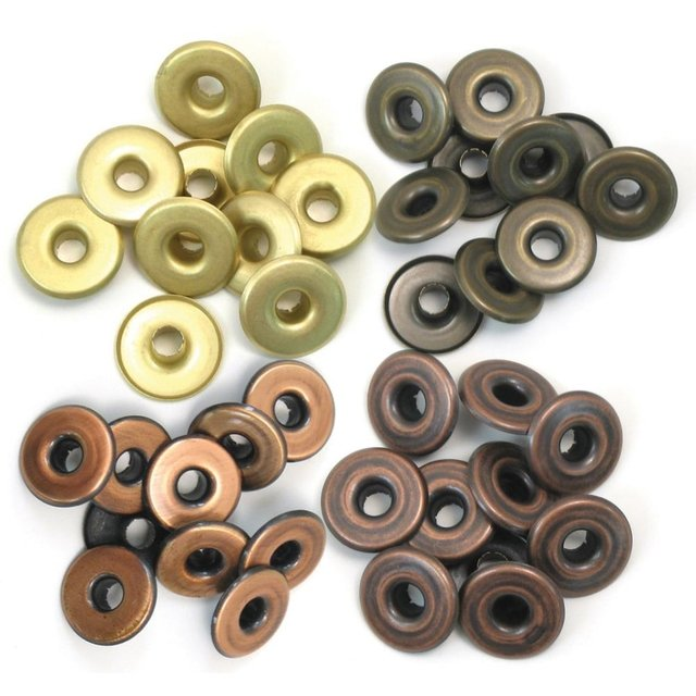 We R Memory keepers Eyelets Eyelets Wide 40/Pkg Copper Warm Me