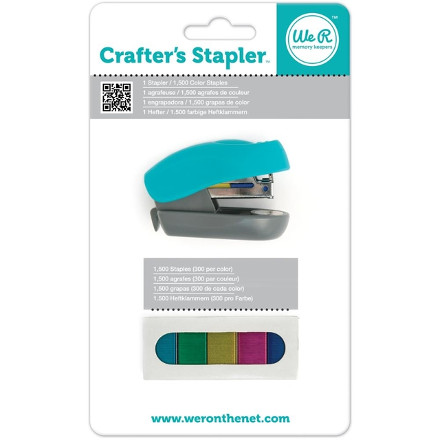 We R Memory Keepers Crafter's Stapler W/1,500 Staples / Abrochadora decoradora para Broches de 12mm - comprar online