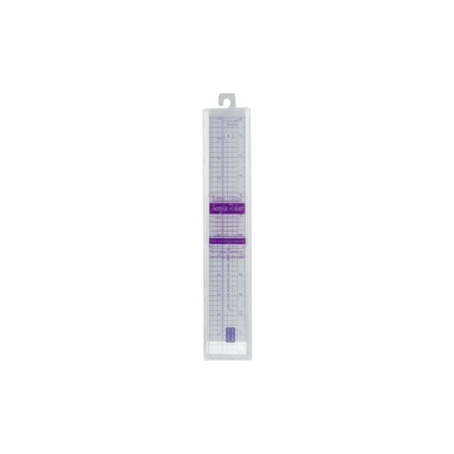 Metal Edged Acrylic Ruler 12