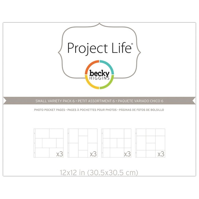 Project Life Photo Pocket Pages Small Variety Pack 6